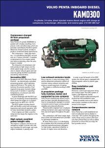 Volvo KAMD300 Marine Diesel Engine Information Sheet