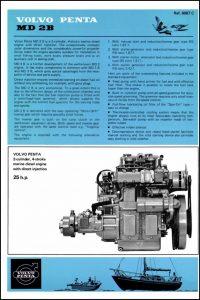 Volvo MD 2B diesel engine Brochure 1974