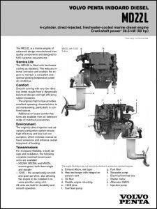 Volvo Penta MD22L diesel engine Brochure
