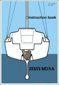 Volvo MD5A marine diesel engine Instruction Book