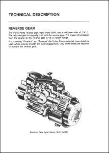 Volvo Mono Shift Transmission Parts List