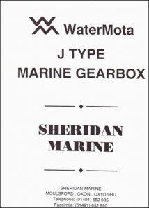 WaterMota J-Type marine transmission Maintenance Manual