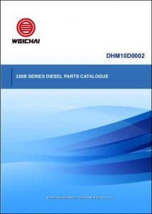 Weichai 226B Series diesel engine Parts Catalogue
