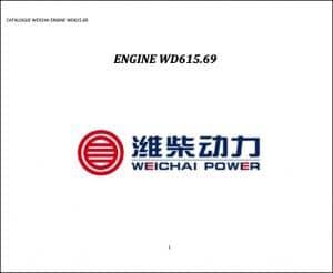 Weichai WD 615.69 diesel engine Parts Manual