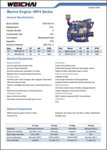 Weichai WP4 Marine Diesel Engine Brochure