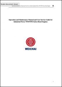 Weichai WP4 diesel engine Operation Manual