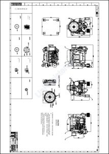 Weichai WP4C diesel engine Aftercooler Drawing