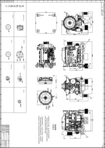 Weichai WP4C Diesel Engine Turbocharger Drawing