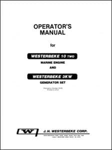 Westerbeke 10 Two Marine Diesel Engine Operators Manual
