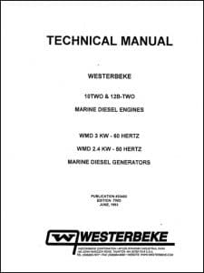 Westerbeke 10 Two Marine Diesel Engine Technical Manual