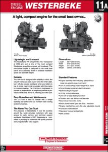 Westerbeke 11A One diesel engine Brochure