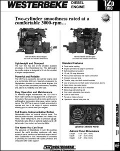 Westerbeke 12D Two Marine Diesel Engine Specifications Brochure