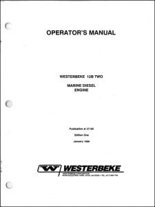 Westerbeke 12b Two marine diesel engine Operator Manual
