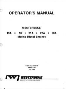 Westerbeke 13A marine diesel engine Owner's Manual