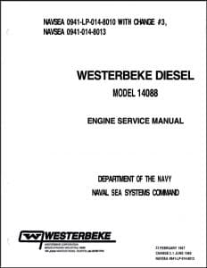 Westerbeke 14088 marine diesel engine Service Manual Navy