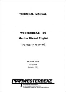 Westerbeke 30 diesel engine Technical Manual