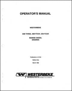 Westerbeke 35B Three Marine Diesel Engine Operator Manual
