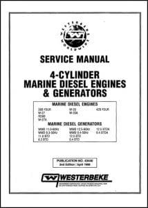 Westerbeke diesel engine generator 38B Service