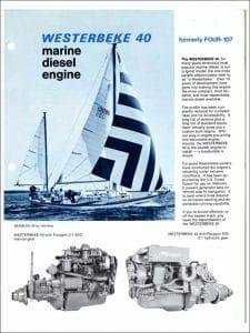 Westerbeke 40 marine diesel engine Brochure
