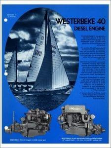 Westerbeke 40 marine diesel engine Brochure 1978