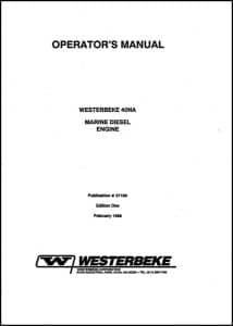 Westerbeke diesel engine 40NA Operators Manual