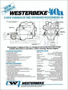 Westerbeke 40a marine diesel engine Brochure