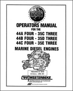 Westerbeke 44A Four Marine diesel Engine Operator Manual