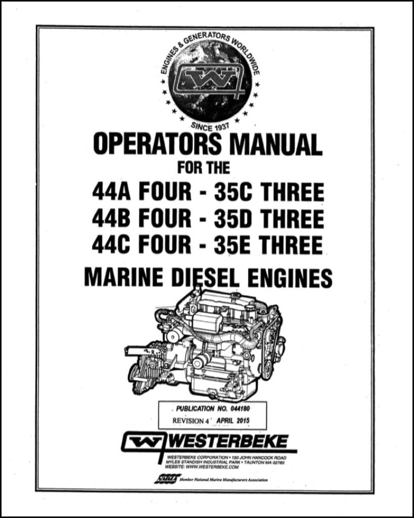 Westerbeke 44A Four Marine diesel Engine Operator Manual