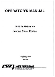 Westerbeke 46 diesel engine Operator Manual