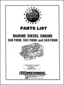 Westerbeke 55B Four Marine diesel Engine Parts List