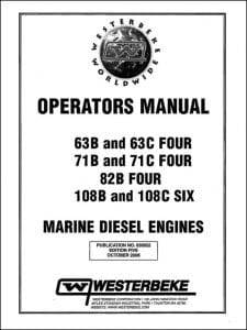 Westerbeke 63B Marine Diesel Engine Operators Manual