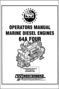 Westerbeke 64A Four marine diesel engine Operators Manual