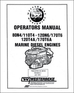 Westerbeke 80N4 etc marine diesel engine Operators Manual