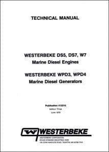 Westerbeke DS5 marine diesel engine Technical Manual