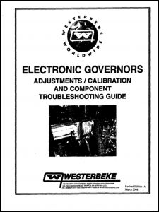 cover of Westerbeke Electronic Governor Troubleshooting Guide