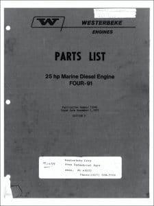 Westerbeke Four-91 diesel engine Parts List