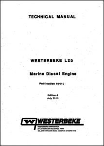 Westerbeke L25 diesel engine Technical Manual