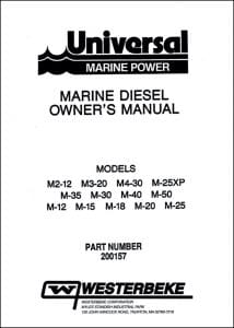 Westerbeke M2-12 marine diesel engine Operation Manual