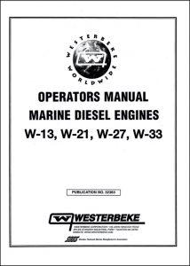 Westerbeke W-13 marine diesel engine Operator manual