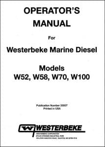 Westerbeke W52 etc marine diesel engines Operators Manual