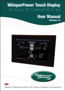 WhisperPower Touch WP 5.0 Inch display User Manual