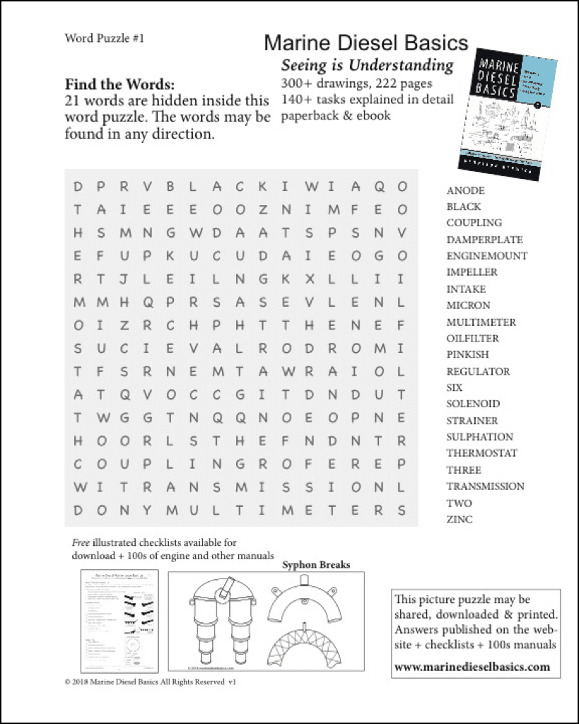 Marine Diesel Basics Word Puzzle #1 May 29 2018