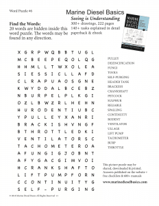 Marine Diesel Basics Word Puzzle #6 July19 print
