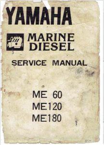 Yamaha ME60 marine diesel engine Service Manual