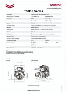 Yanmar 1GM10 diesel engine Datasheet