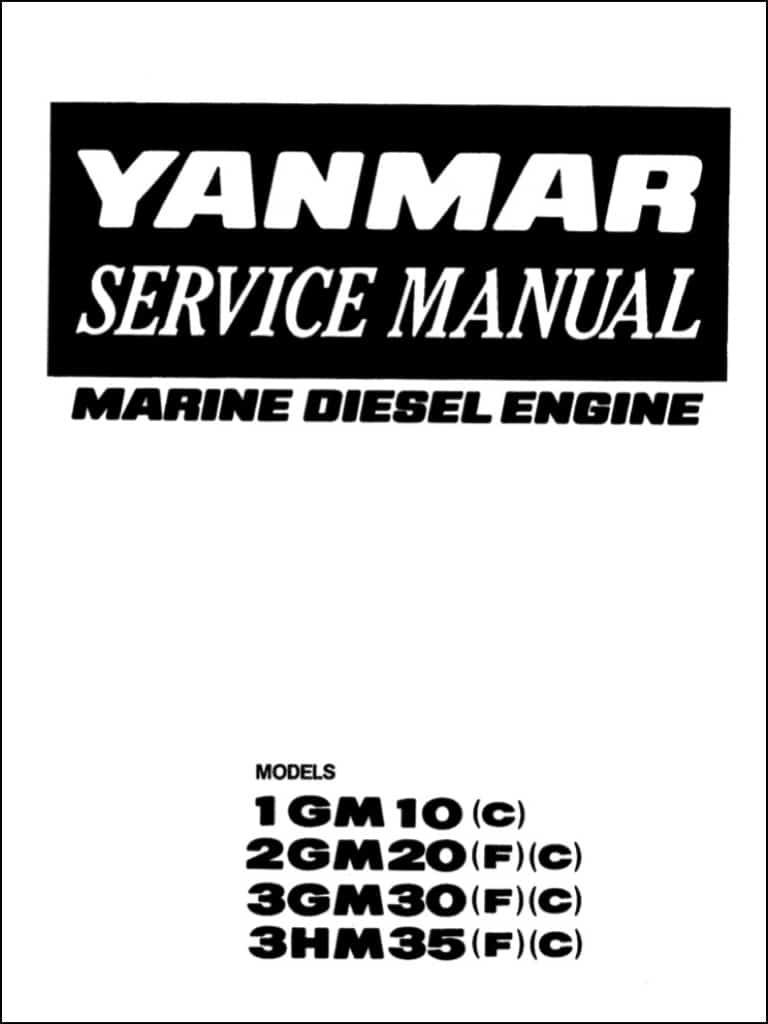 yanmar diesel engine 1gm10  c  service manual