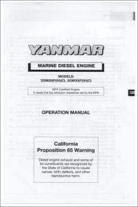 Yanmar 2GM20 marine diesel engine Operation Manual