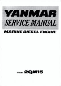 Yanmar 2QM15 marine diesel engine Service Manual
