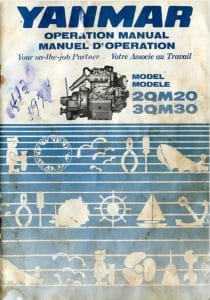 Yanmar 2QM20 marine diesel Operation Manual