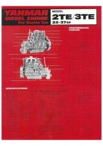 Yanmar 2TE-3TE marine diesel engine brochure